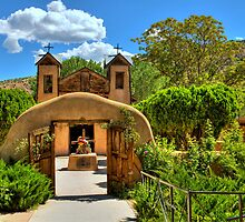Santuario de Chimayó Church in New Mexico  by Diana Graves Photography