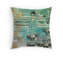 """pakistan boy, flood 2010 Throw Pillow"