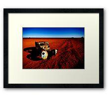 The Car in the Desert Framed Print