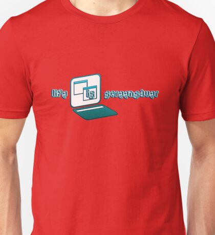 life is a screensaver Unisex T-Shirt