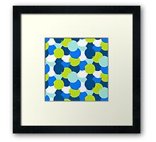 Bold geometric pattern with blue green circles Framed Print