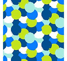 Bold geometric pattern with blue green circles Photographic Print