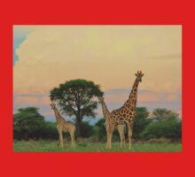 Giraffe - Sunset Storm Watchers Baby Tee