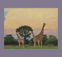 Giraffe - Sunset Storm Watchers Kids Clothes