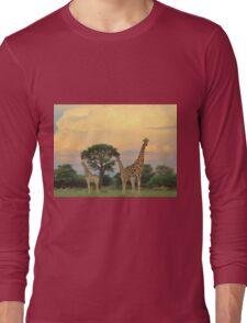 Giraffe - Sunset Storm Watchers Long Sleeve T-Shirt