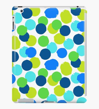 Polka dot print in blue green random colors iPad Case/Skin