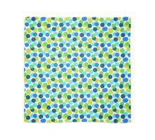 Polka dot print in blue green random colors Scarf