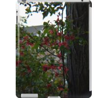 Flowers on the Fence iPad Case/Skin