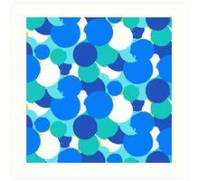 Polka dot print in blue colors Art Print