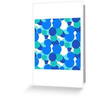 Polka dot print in blue colors Greeting Card