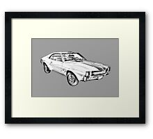 1969 AMC Javlin Car Illustration Framed Print