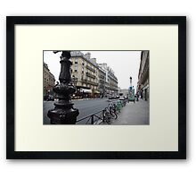 cityscapes #139, grey street Framed Print