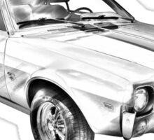 1969 AMC Javlin Car Illustration Sticker
