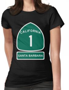 PCH - CA Highway 1 - Santa Barbara Womens Fitted T-Shirt