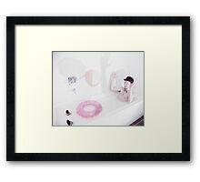 bath games... Framed Print