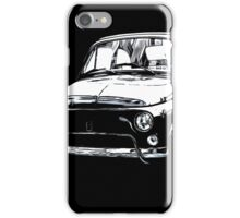 Fiat 500 Pop Art White on Black iPhone Case/Skin