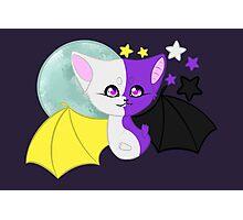 Nonbinary Pride Bat Photographic Print