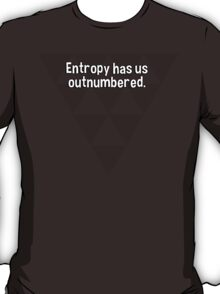 Entropy has us outnumbered. T-Shirt
