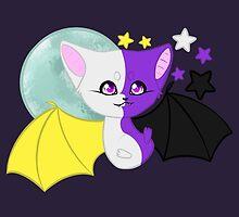 Nonbinary Pride Bat by joyfullyironic