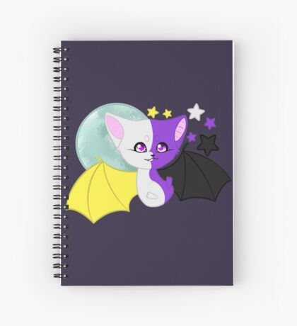 Nonbinary Pride Bat Spiral Notebook