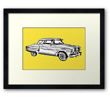 Studebaker Champion Antique Car Illustration Framed Print