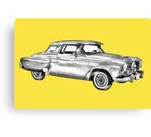 Studebaker Champion Antique Car Illustration Canvas Print