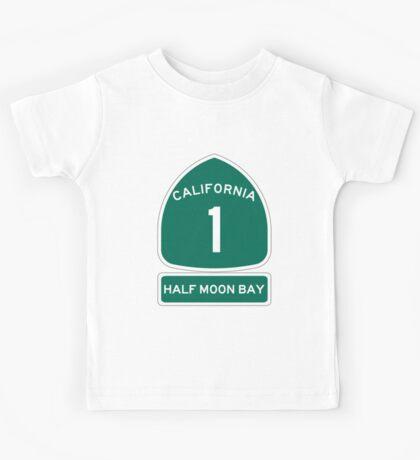 PCH - CA Highway 1 - Half Moon Bay Kids Tee