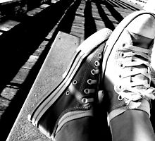 Converse on the jetty - Pismo Beach, USA by racheldowse