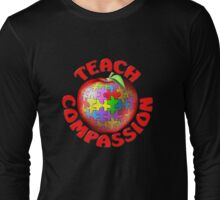 Teach Compassion Autism Awareness Puzzle Apple Long Sleeve T-Shirt