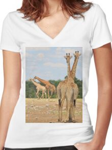 Giraffe - Jealousy and Funny Love Women's Fitted V-Neck T-Shirt