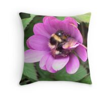 Bumble Bee in sphere. Throw Pillow