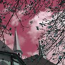"""Double Steeples""* - in Mauve by Deb  Badt-Covell"