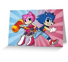 Sonic Pilgrim and Amy Flowers Greeting Card