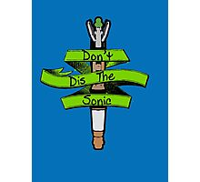 Don't Dis the Sonic - Doctor Who Photographic Print