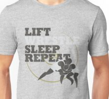 LIFT WRESTLE SLEEP REPEAT Unisex T-Shirt
