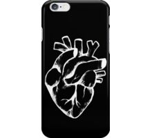 Heart Sketch on Black iPhone Case/Skin