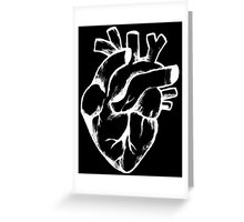 Heart Sketch on Black Greeting Card