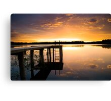 Beauty by the Dock Canvas Print