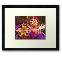 Out Among the Flowers Framed Print
