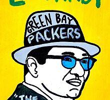 Vince Lombardi Pop Folk Art by krusefolkart