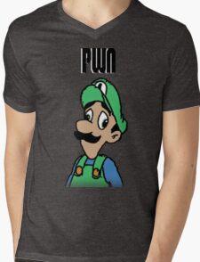 Mama Luigi Mens V-Neck T-Shirt