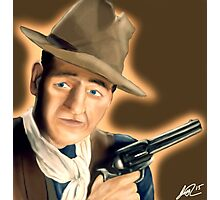 John wayne painting  Photographic Print