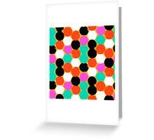 Colorful circles pattern Greeting Card