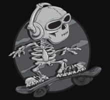 Boric Skateboarding greyscale by gregure