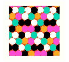 Colorful circles print Art Print