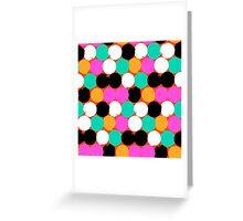 Colorful circles print Greeting Card