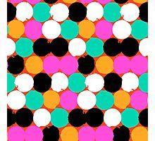 Colorful circles print Photographic Print