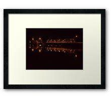 Yarrawonga Mulwala Bridge by Night Framed Print