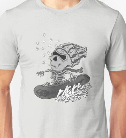 Boric Snowboarding (greyscale) Unisex T-Shirt