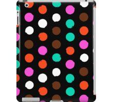 Colorful polka dots on black iPad Case/Skin